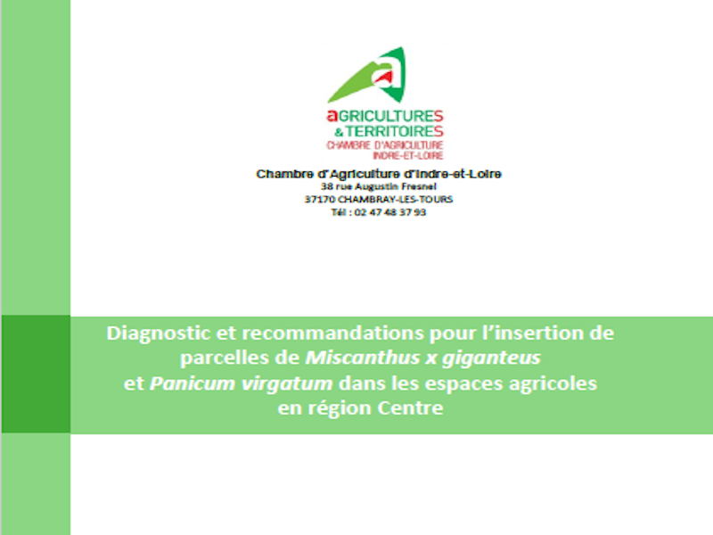 Bonnes Pratiques – Insertion Du Miscanthus Dans Les Espaces Agricoles : Diagnostic Et Recommandations